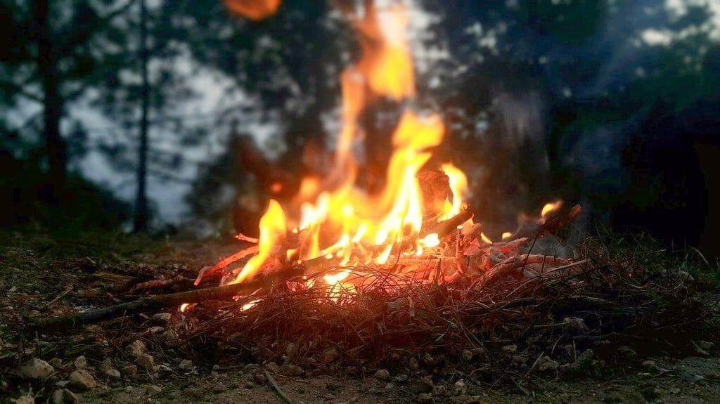 Garden waste bonfire