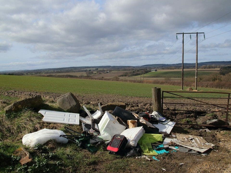 Fly-tipping in the countryside