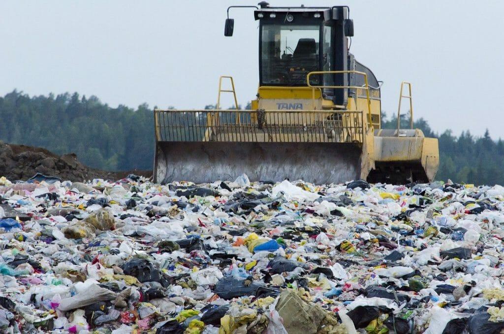 Rubbish at a landfill