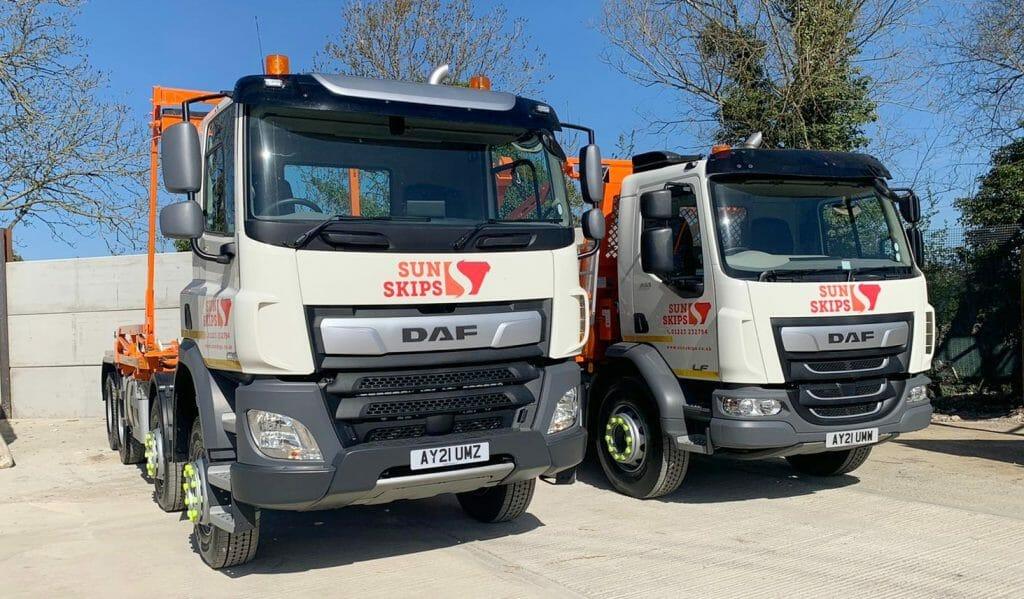 Skip hire lorries