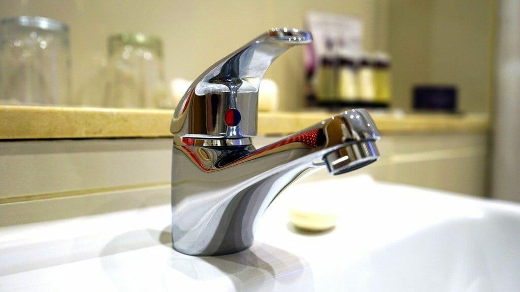 Clean bathroom tap