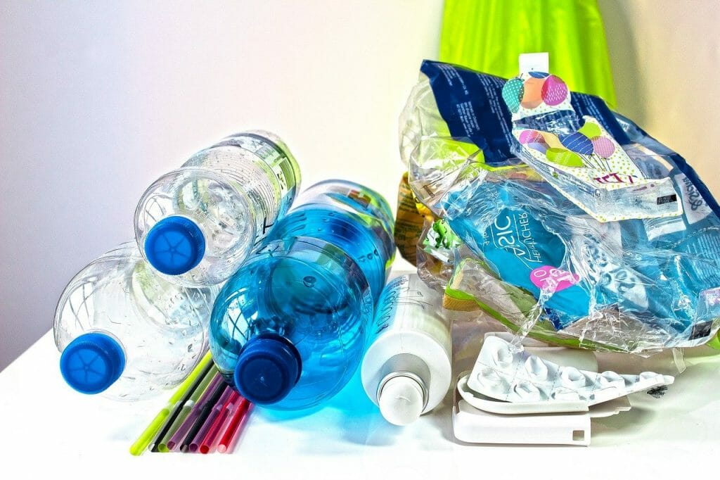 A collection of plastics that can be recycled