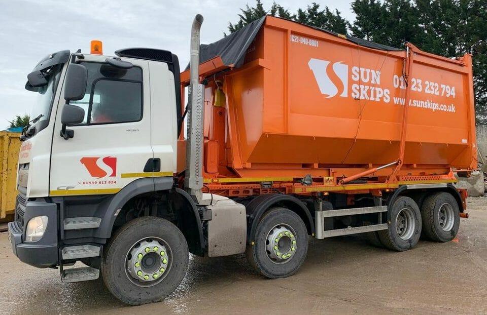 SunSkips skip hire lorry