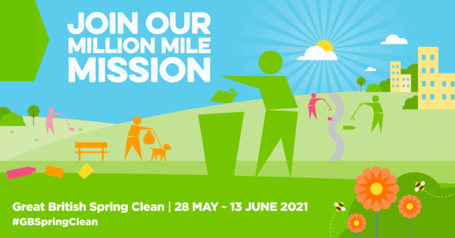 The Great British Spring Clean 2021 promo art