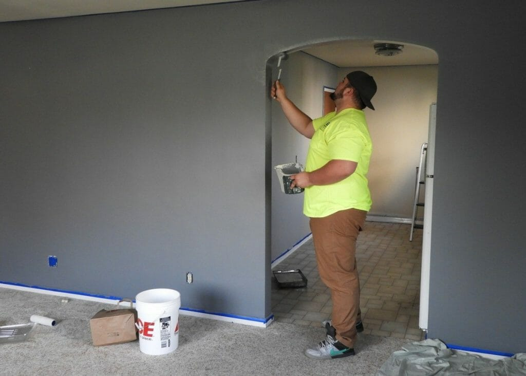 Painting a new house