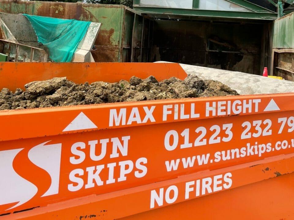 SunSkips skip full of rubble