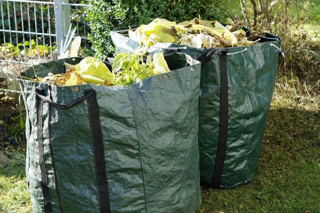 Garden waste that can go in a skip