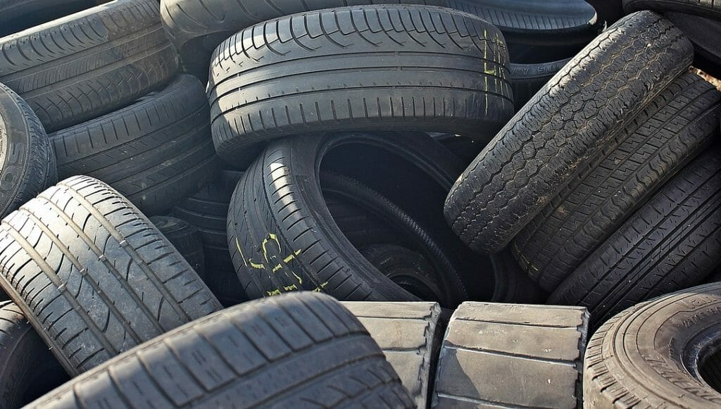 Tyres you can't put in a skip