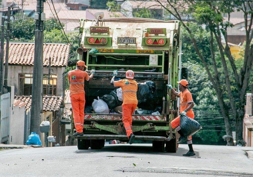 Bin men loading the lorry