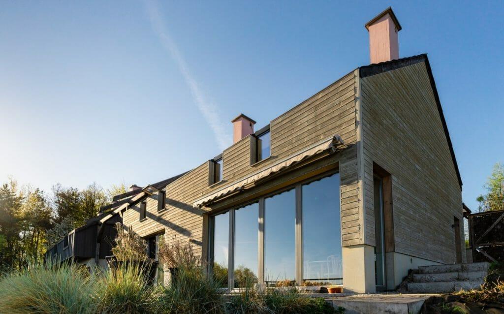 Cross-laminated-timber house