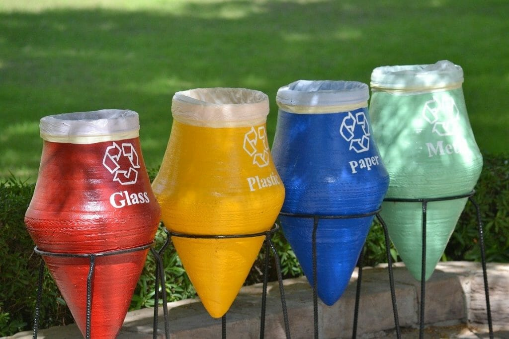 Quirky recycling bins