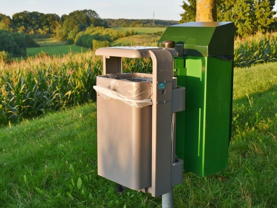 Smart bin in the countryside